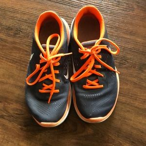 Orange & Gray Nike tennis shoes